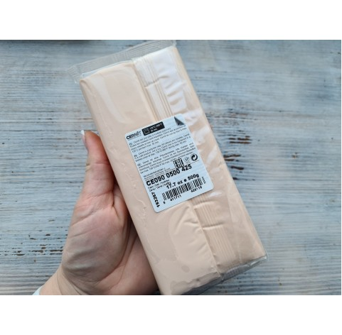 Cernit Number One oven-bake polymer clay, flesh, Nr. 425, 500 gr