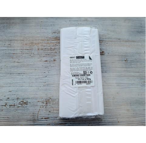 Cernit Translucent oven-bake polymer clay, white, Nr. 005, 500 gr