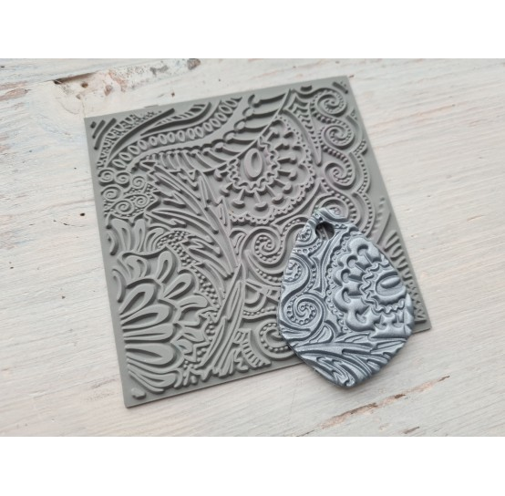 Cernit texture plate for polymer clay, Moments, 9*9 cm