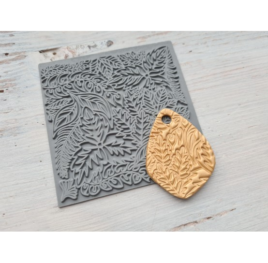 Cernit texture plate for polymer clay, Leaves, 9*9 cm