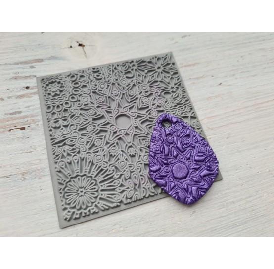 Cernit texture plate for polymer clay, Mandala, 9*9 cm