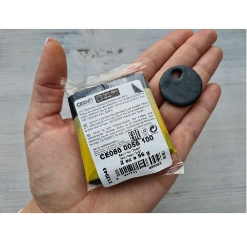 Cernit Pearl oven-bake polymer clay, Black, Nr.100, 56 gr