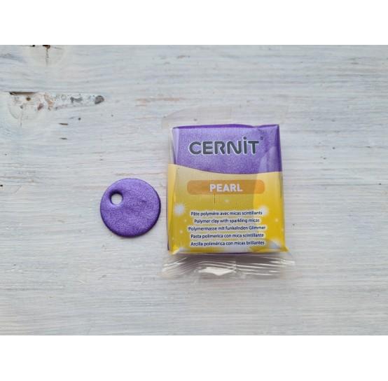 Cernit Pearl oven-bake polymer clay, Violet, Nr.900, 56 gr