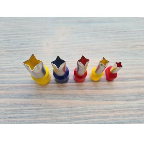 "Set of metal cutters ""Four point Stars"", 5 pcs., Ø 0.7 cm-1.4 cm"