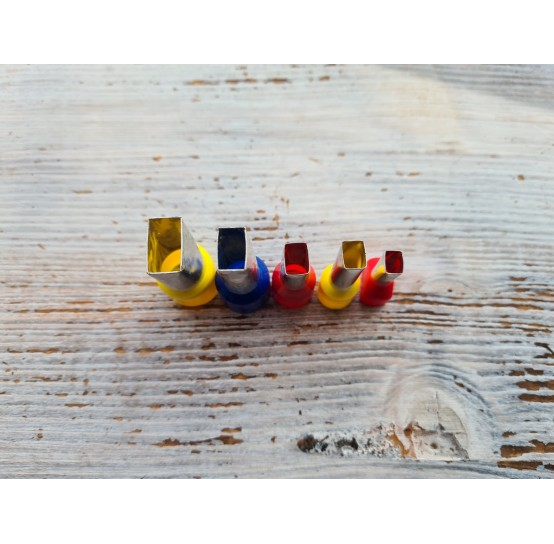 "Set of metal cutters ""Elongated rectangle"", 5 pcs., Ø 0.7 mm-1.8 cm"