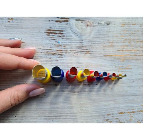"Set of metal cutters ""Irregular Semicircle"", 9 pcs., Ø 0.3 mm- 1.4 cm"