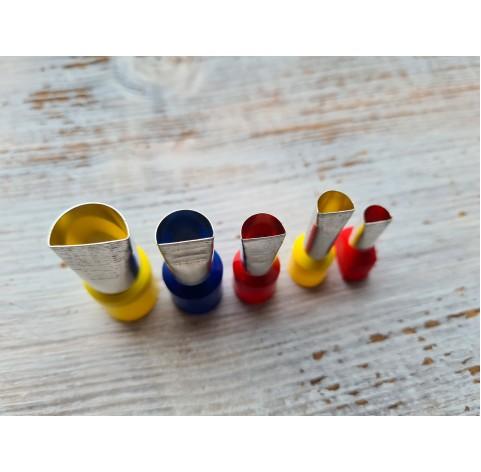 "Set of metal cutters ""Semicircle"" , 5 pcs., Ø 0.7 mm-1.4 cm"