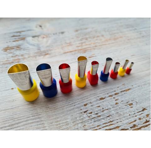 "Set of metal cutters ""Semicircle"", 9 pcs., Ø 0.3 mm- 1.4 cm"