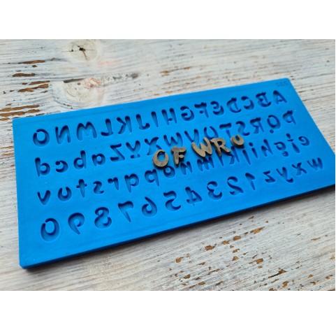 Silicone mold, English alphabet 2, (Disney), height ~ 1.2 cm