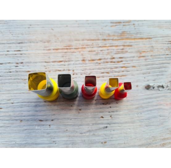 "Set of metal cutters, ""Square"", 5 pcs., Ø 0.6 mm-1.2 cm"