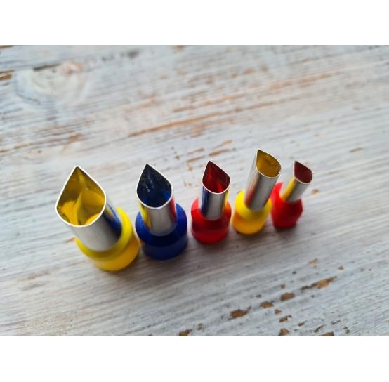 "Set of metal cutters ""Drops"", 5 pcs., Ø 0.6 mm-1.3 cm"