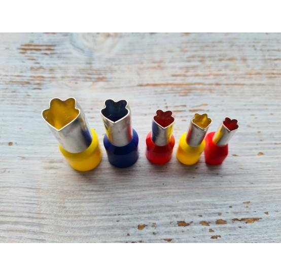 "Set of metal cutters ""Curved Petal"" , 5 pcs., Ø 0.7 mm-1.4 cm"