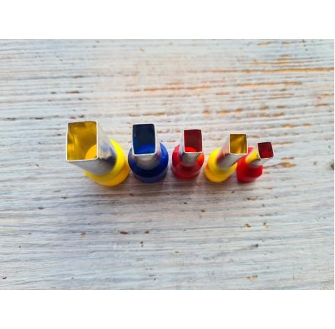 "Set of metal cutters ""Rectangle"", 5 pcs., Ø 0.7 mm-1.8 cm"
