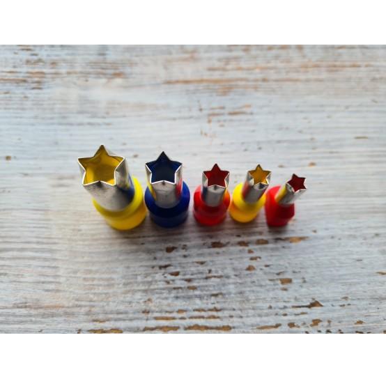 """Set of metal cutters """"Stars"""", 5 pcs., Ø 0.7 cm-1.4 cm"""