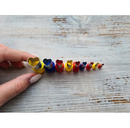 "Set of metal cutters ""Hearts"", 9 pcs., Ø 0.3 mm- 1.4 cm"