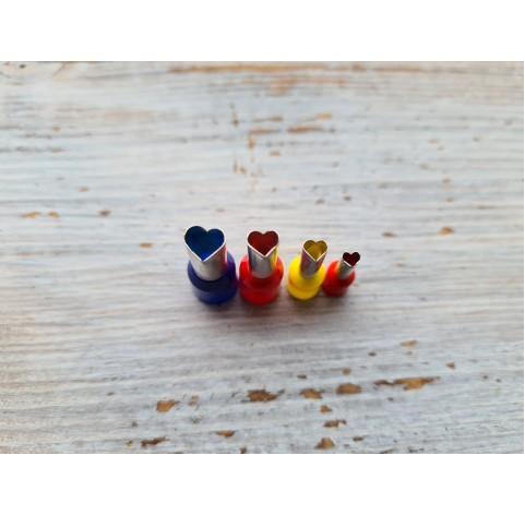 "Set of metal cutters ""Hearts"", 4 pcs., Ø 0.3 - 0.6 mm"