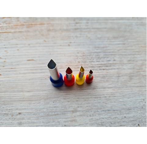 "Set of metal cutters ""Drops"", 4 pcs., Ø 0.3 mm-0.6 cm"