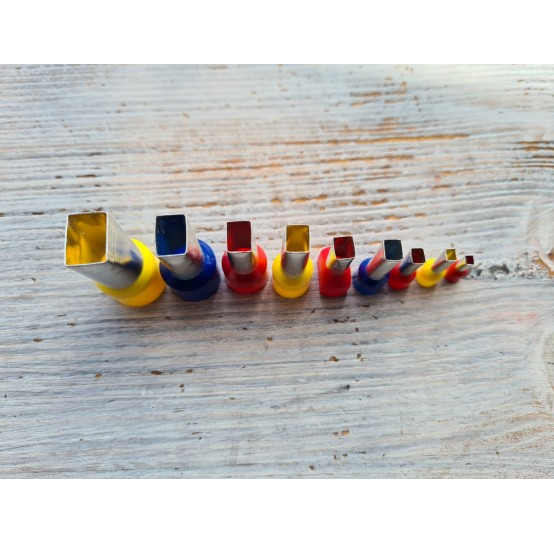 "Set of metal cutters ""Rectangle"", 9 pcs., Ø 0.3 mm-1.8 cm"