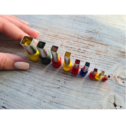 "Set of metal cutters, ""Square"", 9 pcs., Ø 0.3 mm-1.2 cm"