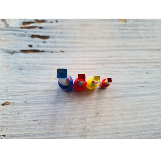 "Set of metal cutters, ""Square"", 4 pcs., Ø 0.3 mm-0.6 cm"