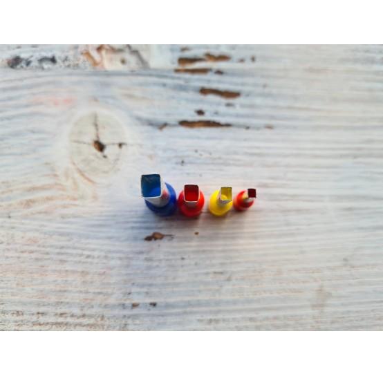 "Set of metal cutters ""Rectangle"", 4 pcs., Ø 0.3 mm-0.6 cm"
