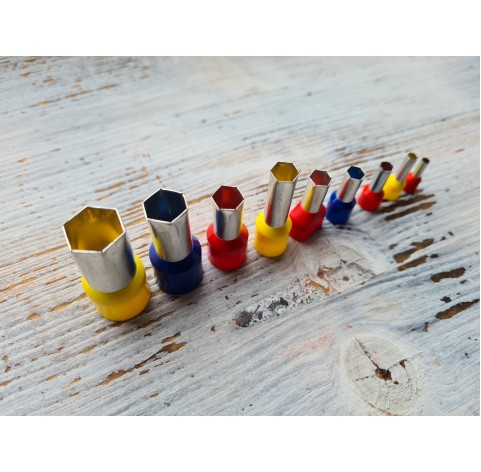"Set of metal cutters ""Hexagon"", 9 pcs., Ø 0.3 mm-1.4 cm"