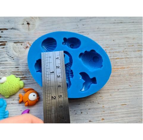 Silicone mold, marine inhabitants, ~ 2*5 cm