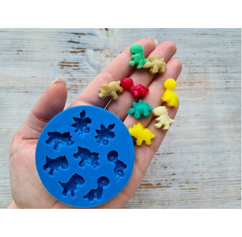 Silicone mold, dinosaurs, ~ 1.5*2 cm