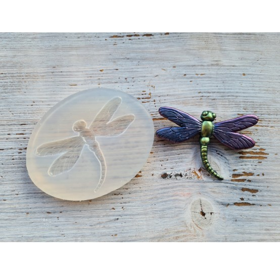 Silicone mold dragonfly,  6 x 8,5 cm