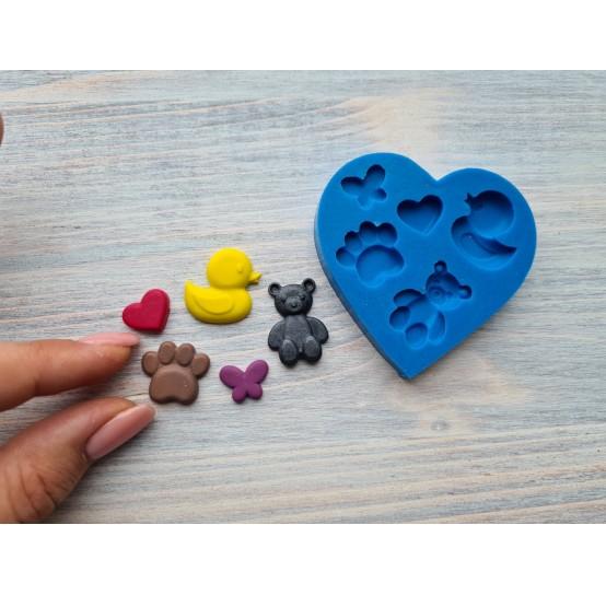 Silicone mold, animals 2, ~1.1*2.5cm