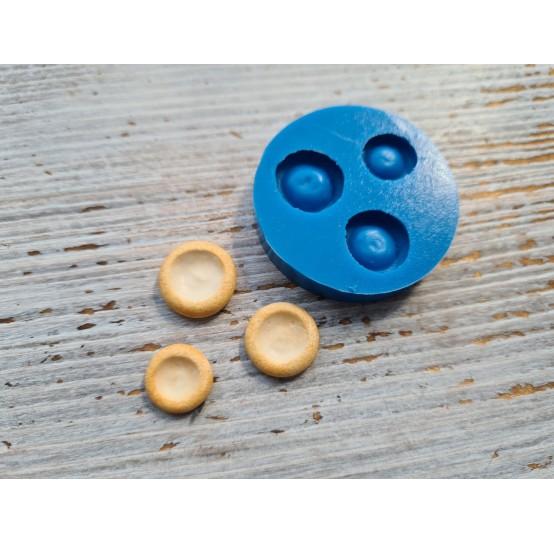 Silicone mold, miniature bun, empty 3 pcs., 1.1-1.5 cm