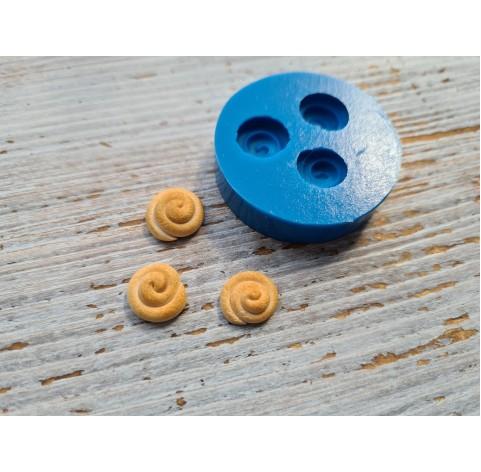 Silicone mold, miniature bun, 3 pcs., 1.1-1.4 cm