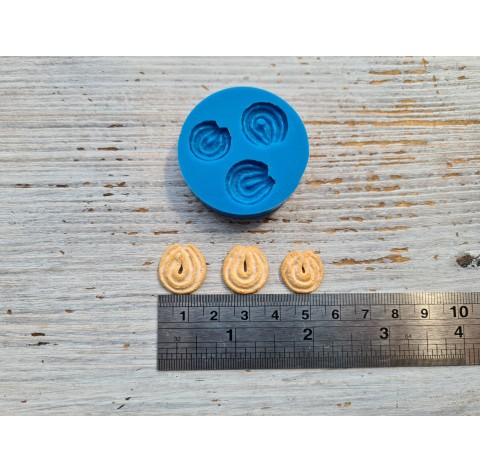 Silicone mold, miniature shortbread cookies 3 pcs., 1.4-1.7 cm