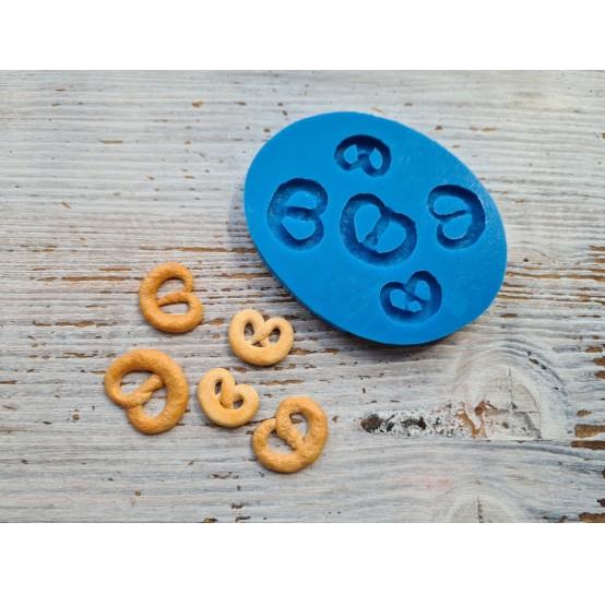 Silicone mold, miniature pretzel 5 pcs., 1.7-2.5 cm