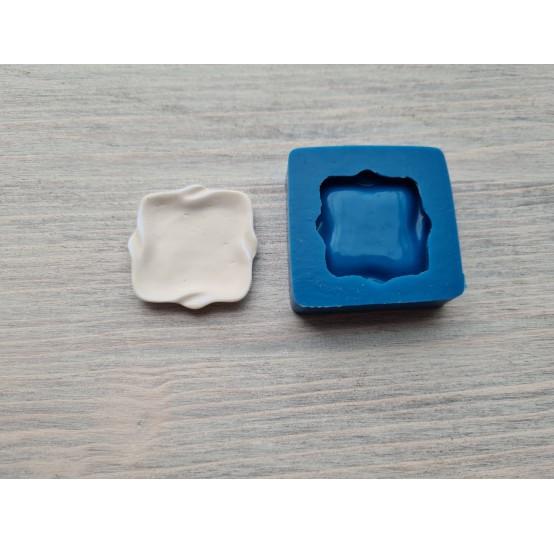 Silicone mold, square plate, 3.3 cm