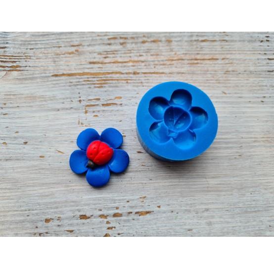 Silicone mold, ladybug on the flower, ~ 3 cm