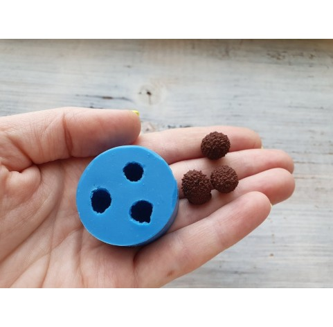 Silicone mold, mini cone, 3 pcs., Ø ~ 1cm, H: 1.1-1.3cm