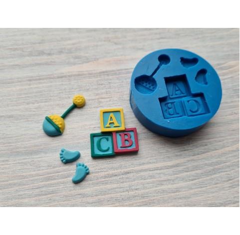 Silicone mold, children's set, 4 pcs., ~ 1-3.1 cm