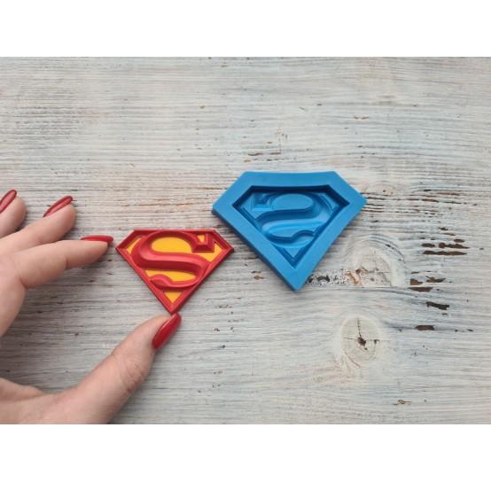 """Silicone mold, logo """"Super"""", ~ 4.2*6 cm"""