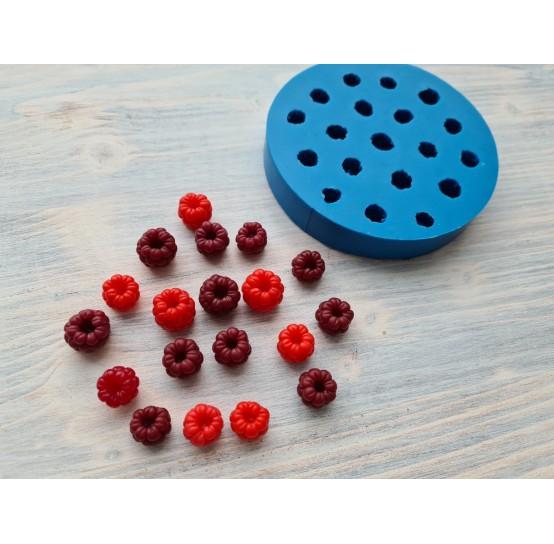 Silicone mold raspberry, reversed berries, handmade, 19 pcs, ~ Ø 1.3 - 1.5 cm