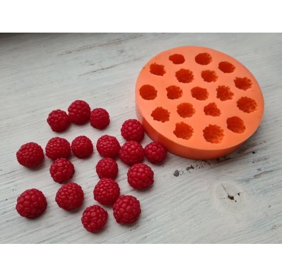 Silicone mold raspberry mix L and XL, 18 pcs., ~ Ø 1.6-2 cm