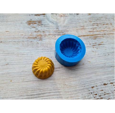 Silicone mold, cupcake cake cup with waves, ~ Ø 2.8 cm, ~ H 1.2 cm