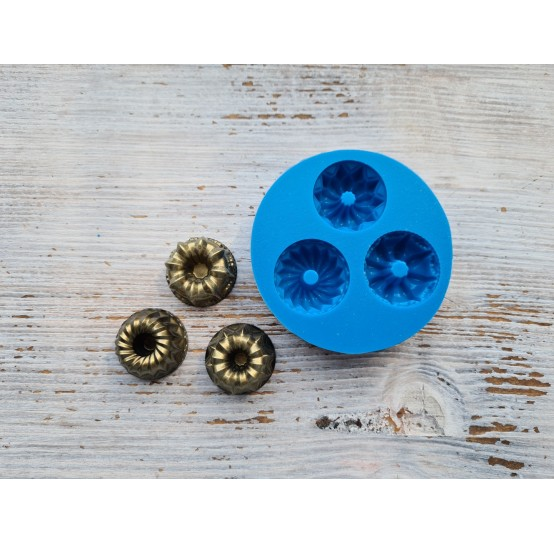 Silicone mold, cupcake, round, ~ Ø 2.8 cm, ~ H 1.5 cm