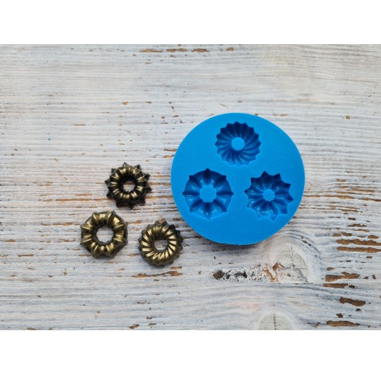 Silicone mold, cupcake, round, ~ Ø 2.8 cm, ~ H 0.7 cm