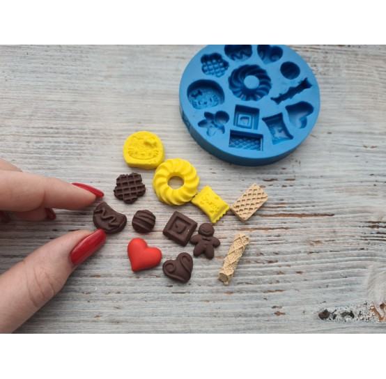 Silicone mold, set of sweets, 12 pcs., ~ 1.1-2.3 cm
