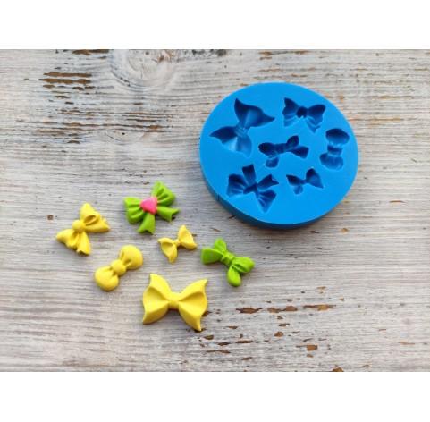 Silicone mold, bows, 6 pcs., ~ 1.3-2.6 cm