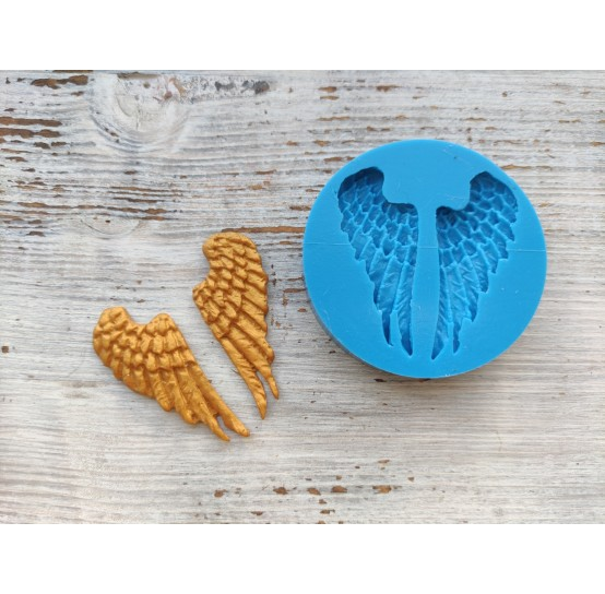 Silicone mold, wings, 2 pcs., ~ 2.5*5.7 cm