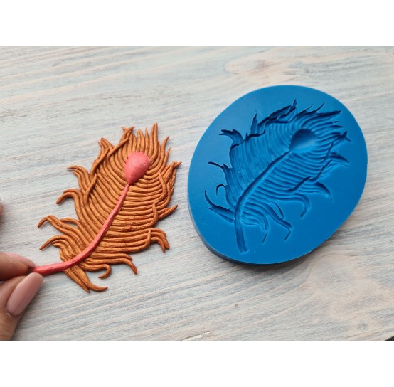 Silicone mold, feather, 7 * 10cm