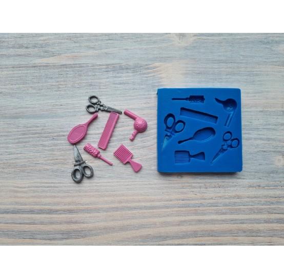 Silicone mold, Hairdresser's set, 7 pcs., 2.8-3.5 cm
