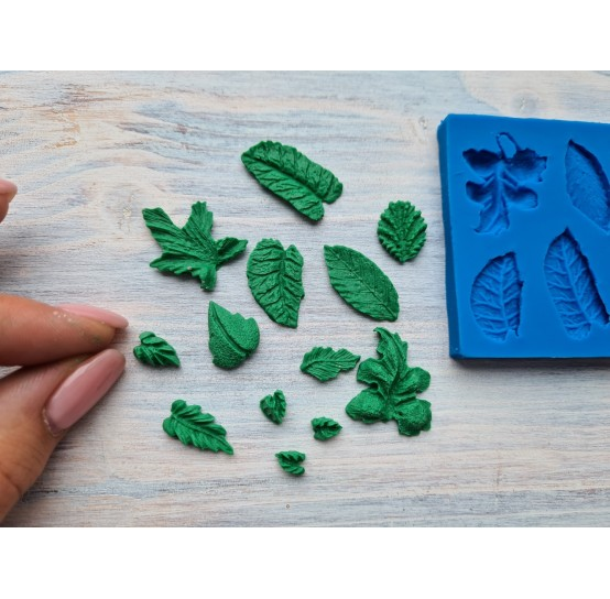 Silicone mold, leaves, 13 types, ~ 0.5-2 cm